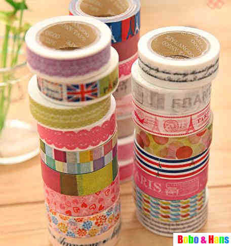 Free Shipping/New vintage tower &amp; lace series washi masking Tape / Decoration stationery Tape / Sticker label / wholesale(China (Mainland))