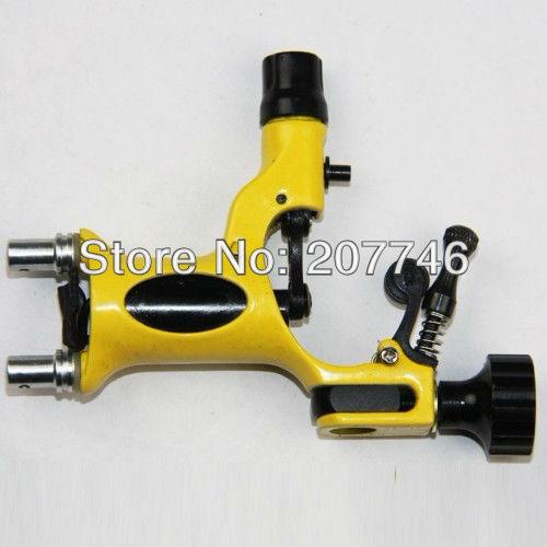 Fashional Yellow Dragonfly Rotary Tattoo Machine Gun Shader & Liner Kits Supply Tattoo Equipment(China (Mainland))