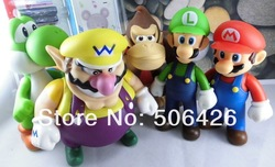 Retail Support Dropshiping Super Mario Bros Figure Toy Doll 5PCS Super Mario Brothers Action figures PVC figures Doll(China (Mainland))