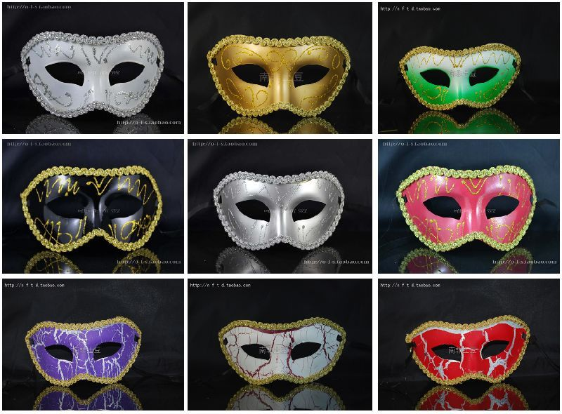 half mask masquerade ball masks venetian masquerade mask masquerade masks for men gold mask silver mask black mask(China (Mainland))
