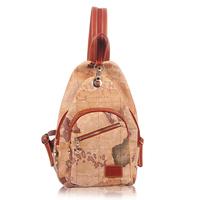 B.angel 2014 PVC fashion brand designer map pack vintage preppy style backpack for school bag