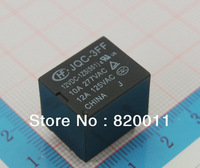 10Pcs/lot , JQC-3FF/012-1ZS(551) , 12V ,10A, SPDT Subminiature Power Relay Switch On PCB  Low shipping cost