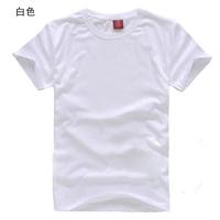Blank t-shirt white 100% cotton o-neck short-sleeve male women's heat press T-shirt advertising shirt cheap cotton tshirt