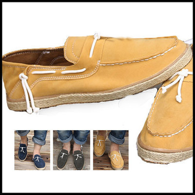 New Men Casual Canvas shoes Slip On Surf Loafers Driving Moccasin Boat Loafers Free Shipping Top Quality(China (Mainland))