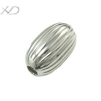 XD X032 925 sterling silver oval spacer beads for necklace and bracelet diy jewelry