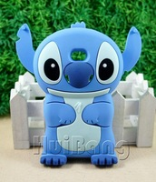 Cute 3D Stitch Soft Silicone Case Cover For LG E400 Optimus L3 Blue ST107