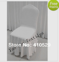 Wholesale - swag bottom lycra chair cover/white spandex chair covers for wedding