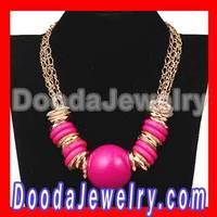 Cheap Ethnic Gold Plated Big Ball Chain Choker Necklace Wholesale Free Shipping, 2pcs/lot