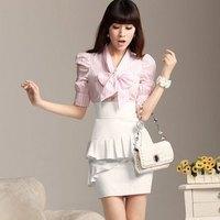 2013 summer silver white xiangpin gentlewomen dress shirt paragraph slim one-piece dress