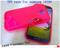 Hot sale 500*case + 500* screen film Nes S Line Soft TPU Case Anti-skid design TPU case for Samsung Galaxy SIIII S4 i9500
