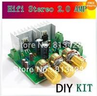 TDA2030A hifi stereo Two channel 2.0 amplifier AMP  board 15W+15W DIY Kit