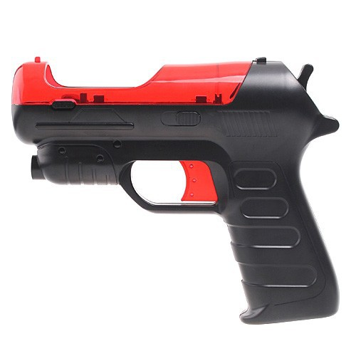 Free shipping! Gun controller move pistol for PS3 move shooting game Red with black Wholesale(China (Mainland))
