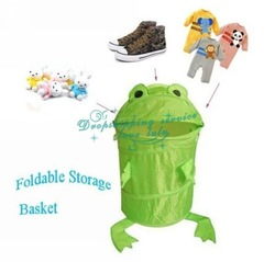 Animals Frog Pop Up Storage Clothes Laundry Foldable Bin Hamper Storage Basket Hot Drop Shipping/Free Shipping(China (Mainland))