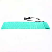 USB 2.0 Silicone Roll Up Foldable PC Computer Keyboard