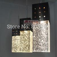 Fashion brief crystal pendant lamp 3 air bubble crystal column pendant light restaurant lamp lighting bar pendant light