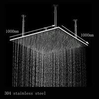 Stainless Steel Hydropowered LED Lighted Rain Shower Head,Bathroom Shower,Showerhead