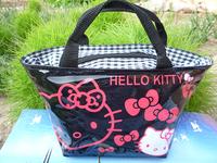 Black Hellokitty cute lunch bag Girls Handbag #1818