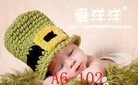 Baby crothet set New arrived Baby photography clothing infant animal design Best gift 3 month baby photo use only