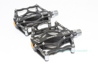 Free Shipping!!Korea Quality A Pair Bike Light Aluminum Alloy CNC Pedal 1DU+1 Shaft Seald black  color
