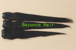 Mix length 4pcs/lot brazilian straight hair virgin human hair extension unprocessed and dyeable(China (Mainland))