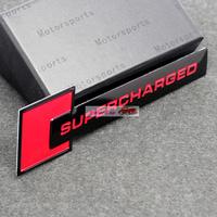 supercharged car body sticker emblem metal 3D car Badge Emblem Free Shipping High Quality Wholesale