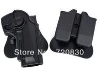 IMI Style Beretta 92/96 RH Pistol & Magazine Paddle Holster BK