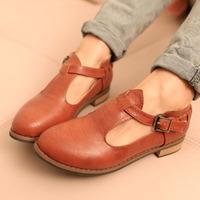 2013 spring fashion british vintage women hasp thick heel single shoes ,free shipping