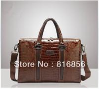Free Shipping 2013 Luxury Brand New Genuine Leather Men Bag Briefcase Handbag Laptop Bag Bussiness Laptop Shoulder Bag for Men
