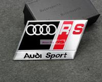 RS black Emblems Badge Sticker Motion For A3 A4 A5 A6 A7 A8 Q5 Q7 TT R8 S Free Shipping High Quality Wholesale