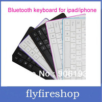 Wireless Bluetooth keyboard For iPad 1 2 3 New iPad iPhone 4 Aluminum Bluetooth Keyboard 1pc Free shipping