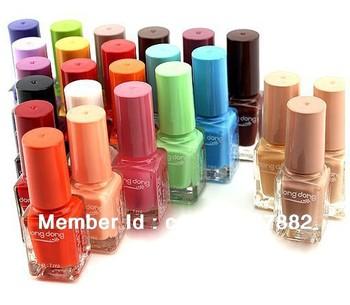 Free shipping 24PCS/LOT DongDong drumming/sweet heart magic pure color matte colored incense quick dry nail polish
