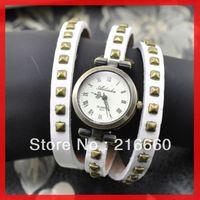 2013 fashion genuine cow leather wrap watch for women