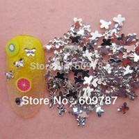 Free Shipping 10000pcs/lot Flatback butterfly nail art Rhinestone stone decorations