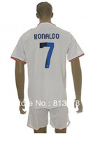new 13-14 Real Madrid 7# RONALDO T-SHIRT soccer jersey  home white  brand t-shirt  jerseys cheap hot sell