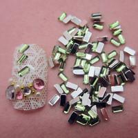 10000pcs/lot 1.5*3mm Flatback Square Beads Nail Art Rhinestones Glitters Nail Art Gems Decoration