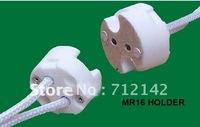 free  shipping,100pcs/lot,MR16 Base,Ceramic MR16 socket,MR16 Holder,Bulb adaptor,GU5.3 socket G4 G6.35 Gy6.35  Gx5.3  Gz4 Mr11