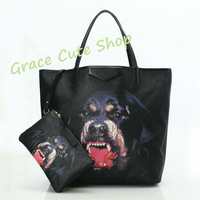 Rottweiler Shopping Bag Bulldog Street Shoulder Bag  Branded Lady Fashion Choice PVC Material 1:1 Grade Quality #GI8631