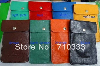 New high quality Leather Sock Case Bag Pouch For iphone, mobile phone bag 8 colors  free shipping