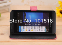 Hot selling Free shipping&10pcs/Lot New Crocodile Magnetic Wallet Red Flip Leather Case for BlackBerry Z10