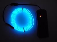 Neon Light Glow EL Wire Rope Tube Car Dance Party Beautiful Blue 3M