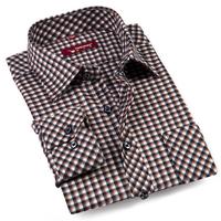 2013 new arrival Factory direct shirt ,autumn/spring men's cotton mandarin collar fashion grid shirt.Free shipping!
