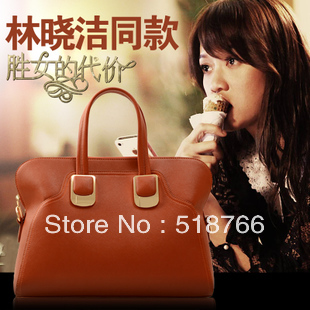2013 Brand Women New Designer Hot Bag Handbag Simple Leather OL Shoulder Cross-Body Bag Tote Free Shipping Wholesale/Retail