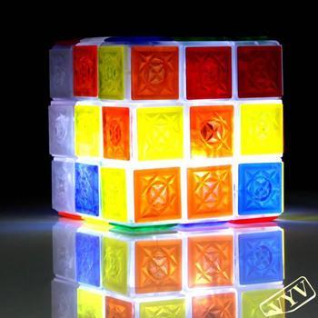 Glaring LED Light Novel Brain Teaser Magic Cube IQ Puzzle Toy