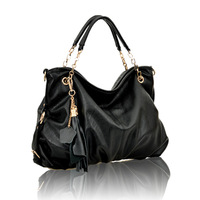 2013 super deal ! fre shipping ! hot sale ! women's  shoulder messenger handbag genuine leather all-match tassel big bag 405