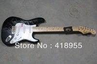 New Stratocaster 6 string Made in USA black Electric Guitar in stock free shipping