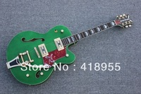 wholesale Top quality Green gretsch Falcon 6120 JAZZ Semi Hollow with Bigsby Tremolo Electric free shipping