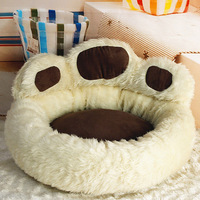 Unique design Bear's paw Small dog beds cute dog pet products free shipping Brown Pink