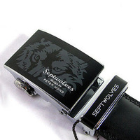 2013 Famous brand in China SEPTWOLVES black automatic buckle genuine leather belt for men ,  wholesale , Hot sale