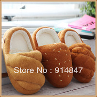South Korea in the spring and winter home bread warm lovely thick bottom floor female cotton slippers