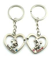 1197 MICKEY MOUSE cartoon heart couple key chain